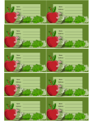 Apples And Worms Luggage Tag