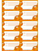 Orange Blowfish Luggage Tag