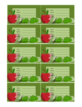 Apples And Worms Luggage Tag luggage tag