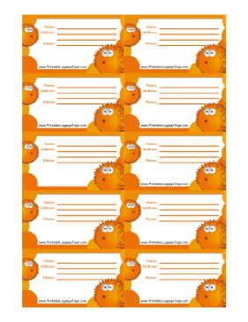 Orange Blowfish Luggage Tag luggage tag