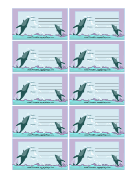 Whales Luggage Tag luggage tag